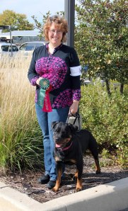 2013 Medallion Rottweiler Specialty - Summer won 2nd place and achieved her 1st leg for CD title on 10/10/13